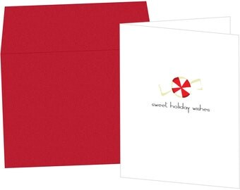 Peppermint Holiday Greeting Card