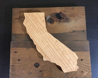 """Wood Sign  Insudrial Style  """"State/ Provence/Country"""""""