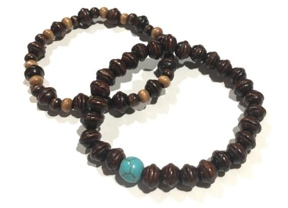 Wooden Beaded bracelets | Brown | Tan | Men's | Unisex | Bracelet