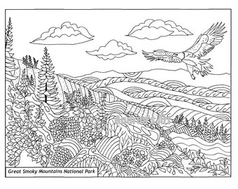adult coloring pages outdoors - photo#9