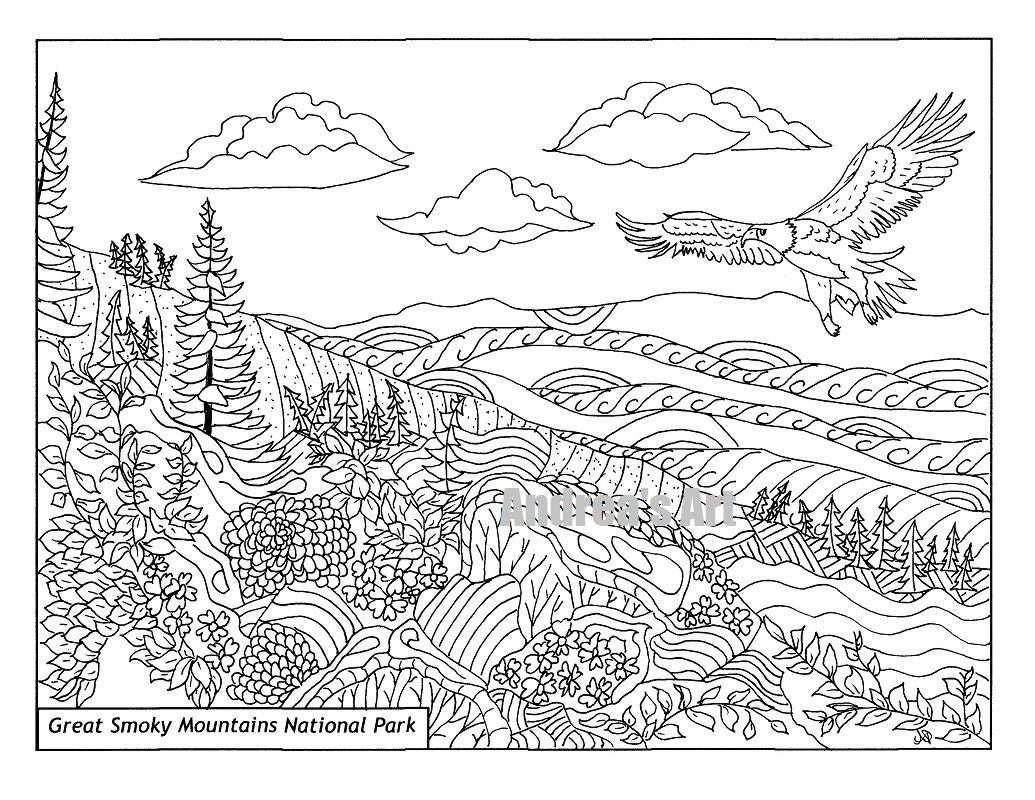 Mountain Climbing Coloring Pages For Adults Mountain