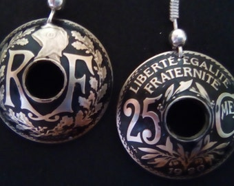 Earrings with 25 french cts parts