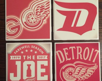Set of 4 Detroit Redwings Coasters