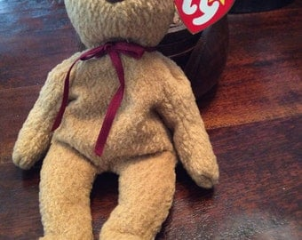 Reduced! Curly Beanie Baby - Rare