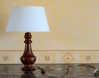 Lamp turned Bubinga