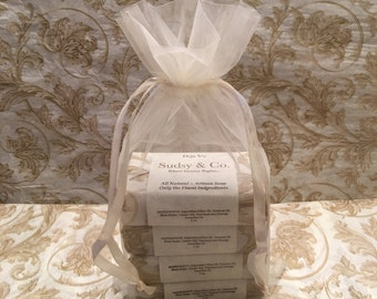 Ivory Organza Gift Bag Soap