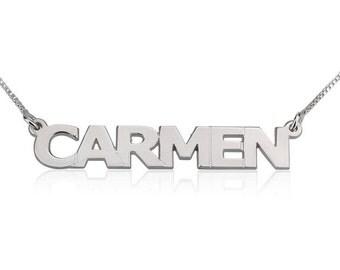 CARMEN Block Name Necklace