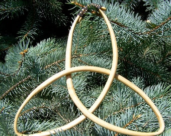 Celtic Triquetra Knot steambent wood