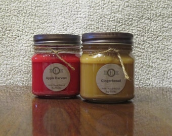 Candle Gift Set/ Personalized Gift/ Fall Gift/ Candle Gift Set/ Choose Your Scent/ Personalized Gift Set