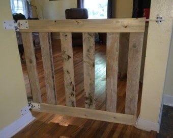 Wood Slate Pet Gate