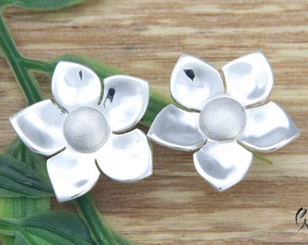 Earrings Silver 925 /-, Jasmine Flower