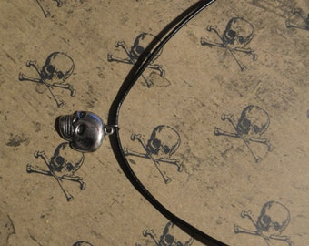 Skull Necklace Halloween Necklace Gothic Necklace Goth Necklace Skull Choker Halloween Choker