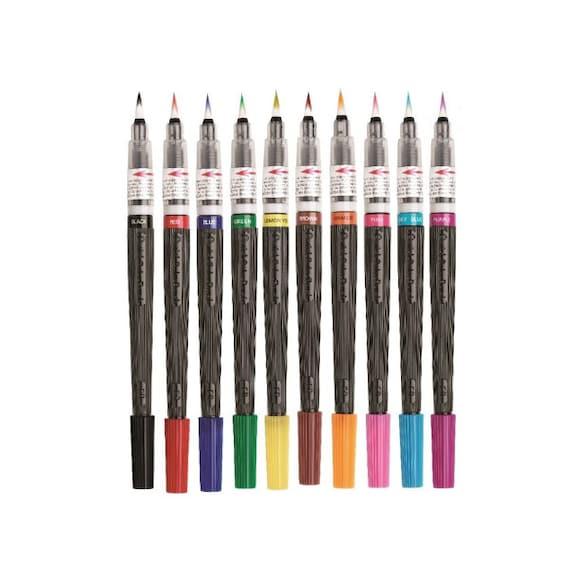 Colors set pentel arts xgfl refillable calligraphy