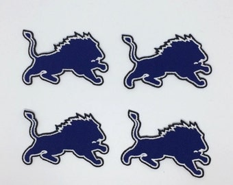 Detroit Lions Embroidered Iron On Patch - Set 4 PCS.