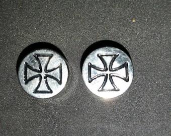 9/16 Surgical steel Maltese cross gauges.