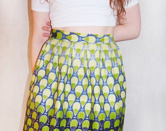 Balloon print glitter skirt