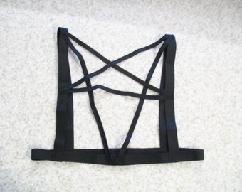 Pentagram harness goth gothic nu goth black
