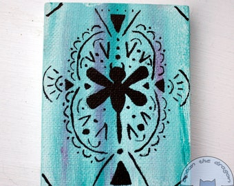 Mini Tribal Dragonfly canvas