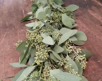 Freshly Harvested Seeded Eucalyptus Garland