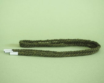 Reclaimed rope shoelaces - Alpine green - FREE SHIPPING