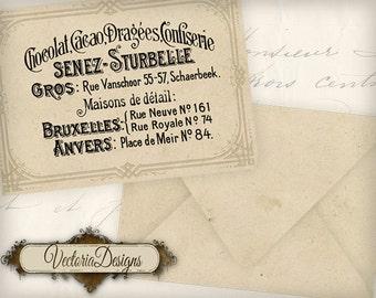 Vintage Advertising Envelopes Printable Envelopes instant download digital collage sheet VD0507