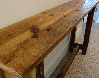 Barn Wood Entry Way Table