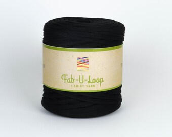 "T-Shirt Yarn - ""Black""  ~160 yards, 130 m"