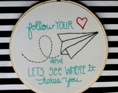 Follow your Heart  and let's see where it takes you FULL Stitch Starter Kit