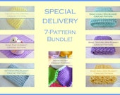 SEVEN Fun & Easy Newborn Crochet Patterns - Easy Baby Blankets - Easy Mini Blankets, Easy Newborn Hats, Easy Newborn Props - Download .pdf