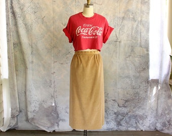 vintage corduroy skirt by Country Suburbans . mid length cord skirt . 70s 80s middy skirt, volup plus size womens xl