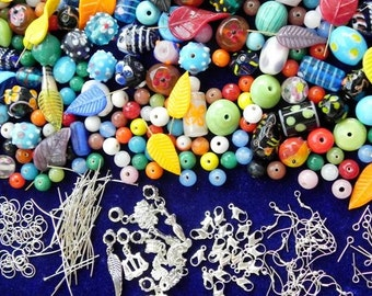 1 Pound mix jewellery making supplies/ craft supplies/beads/findings/jewelry making