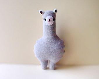 Alpaca Plush Toy, SMALL Alpaca soft toy, Alpaca pillow, Alpaca decor, Alpaca cushion, GRAY Alpaca, Nursery toy, baby toy, MINI Alpaca Friend