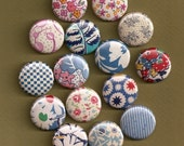 One Inch Magnets - Vintage Fabric - Assortment of 15 - Magnabilities Compatible