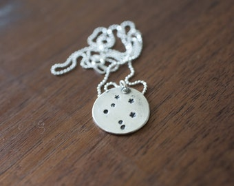 Libra Constellation Necklace - Zodiac Necklace - Gift for her October Birthday Gift Sterling Silver Libra Pendant Star Libra Libra Necklace