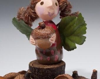 POSTCARDS Fairy Postcard Set of 6 acorn fairy mushroom fairy pink fairy