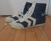 Vintage 1980's Esprit Boxing Pacer Hi Top Sneakers Size 7 Women's