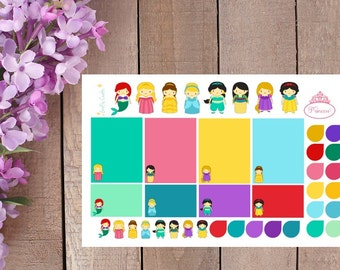 Disney Inspired Princess Stickers for your Planner or Calendar or Scrapbooking