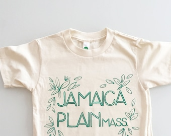 Jamaica Plain screen printed shirt - kids T6 / 6T