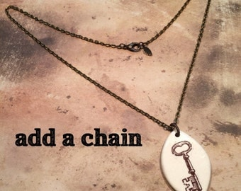 "18"" Antiqued Brass Chain (pendant not included)"