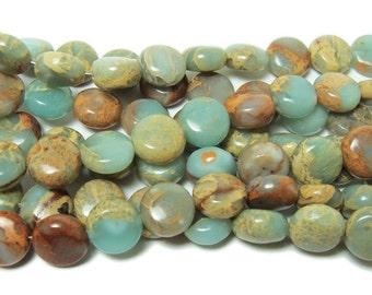 Snake Skin Jasper Coin Gemstone Beads