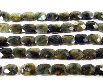 Labradorite Faceted Rectangle Gemstone Beads