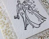 Letterpress wedding card