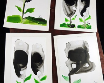 Hand Painted Blank Greeting Cards