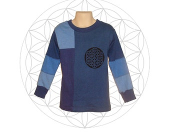 Organic shirts for kids -Ready to Ship size 5/6 * - Organic Shirts for children - Organic cotton and Hemp blend shirt with Flower of Life