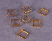 Square Gold Open Metal Stud 10mm - 25 Pieces (MOS10GOS-25)