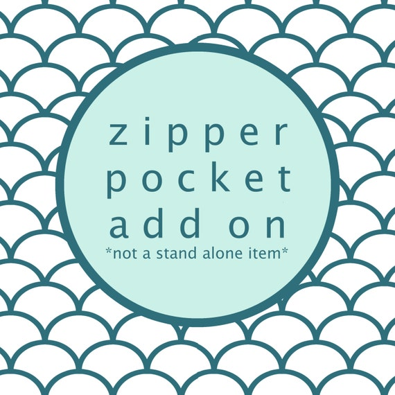SALE Zipper Pocket Add On For OhSoRetro Mens Billfold Wallet