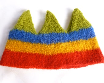Wool Crown multi colored Birthday crown dress up ready to ship