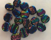 Dichroic Glass Bead Lot....Rainbow of Colors