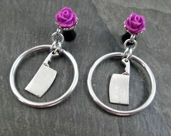 Dangle Plugs - 10g - 8g - 6g - 4g - 2g - 0g - Cleaver Plugs - Rose Gauges - Hoop Plugs - Made to Order Plugs