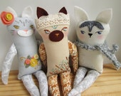 OOAK custom pet portrait plush doll of YOUR dog or cat